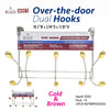 #3502 Over Door Hooks - Assorted Colors (case pack 12 pcs)