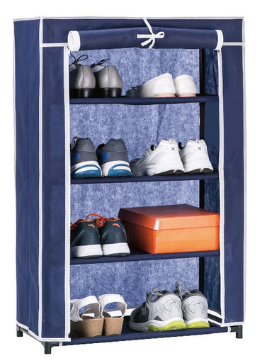 #3530-NBL Roll-up Door 4-Tier Shoe Closet (case pack 6 pcs)