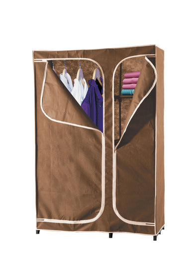 #3537-BRN 4-Shelf Wardrobe (case pack 4 pcs)