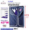 #3537-NBL 4-Shelf Wardrobe (case pack 4 pcs)