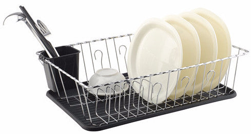 #3701-BLK Large Dish Drainer Set of 3-piece - Black (case pack 6 pcs)