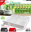 #3702-WW Plastic Dish Drainer 2-pc Set (case pack 12)
