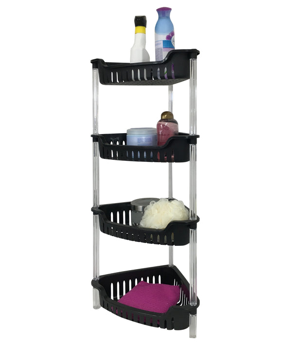 #3741-BLK Corner 4 Tier Storage Basket (case pack 4 pcs)