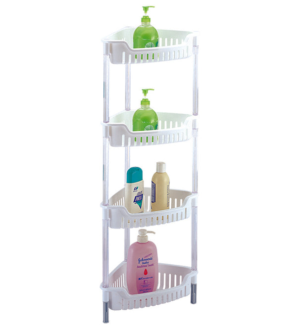 #3741-WHT Corner 4 Tier Storage Basket (case pack 4 pcs)