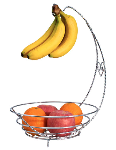#3806 Fruit Basket with Banana Hook (case pack 6 pcs)