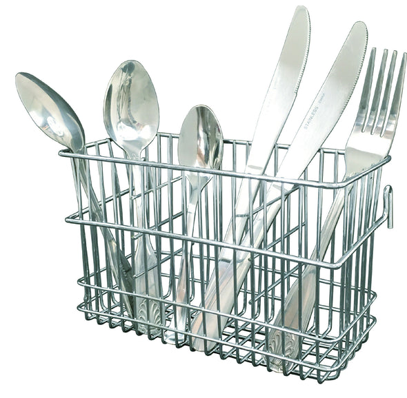 #3816 Drying Rack Chrome Steel Utensil Basket Holder (case pack 24 pcs)