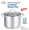 #5109-26G All Stainless Steel Covered Stock Pot 12 Qt (case pack 2 pcs)
