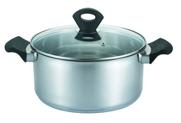 #5121-28F Stainless Steel Covered Sauce Pot 9.8 Qt (case pack 2 pcs)