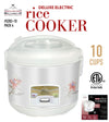 #5283-10 Deluxe Electric Rice Cooker 10 Cup (case pack 4 pcs)