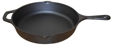 "#5302-HS Cast Iron 10.25"" Frying Pan w/Helper Handle (case pack 4 pcs)"