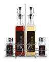 #5330-S5 Glass Oil & Vinegar, Sale & Pepper Set (case pack 6 pcs)