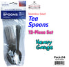#5506 Tea Spoons 12-pc Set (case pack 24 set/ master carton 48 set)