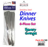 #5509 Dinner Knives 12-pc Set (case pack 24 set/ master carton 48 set)