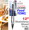 "#5910  Stainless Steel 12"" Food Tong (case pack 24 pcs/ master carton 96 pcs)"