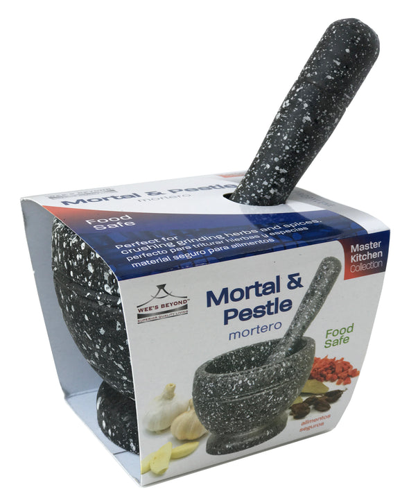 #5916  Marbleized Mortal & Pestle (case pack 12 pcs/ master carton 48 pcs)