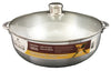 #6000-14 Aluminum Caldero with Glass Lid 15 Qt (case pack 6 pcs)