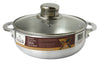 #6000-03 Aluminum Caldero with Glass Lid 2.3 Qt (case pack 6 pcs)