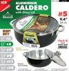 "#6010-A05 Aluminum Caldero 9.4"" Exterior Coating w/Glass Lid #5 (case pack 6 pcs)"