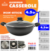 #6231-26 Non-Stick Casserole 4.5 Qt (case pack 6 pcs)