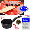 #6253 Non-Stick Sauce Pan with Two Pour Spouts 1.1Qt (case pack 12 pcs)