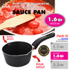 #6254 Non-Stick Sauce Pan with Two Pour Spouts 1.6 Qt (case pack 12 pcs)