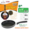 "#6313-20 Double Heavy Non-Stick Fry Pan 8"" (case pack 12 pcs)"