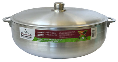 #6632-20 Heavy Guage Caldero with Aluminum Lid 19.8 Qt (case pack 4 pcs)