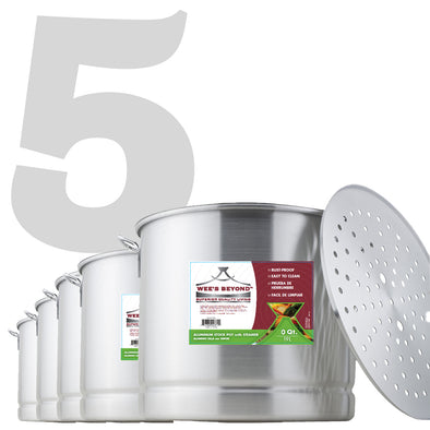#6672 Aluminum Stock Pot Set of 5 with Steamer (case pack 1 set)