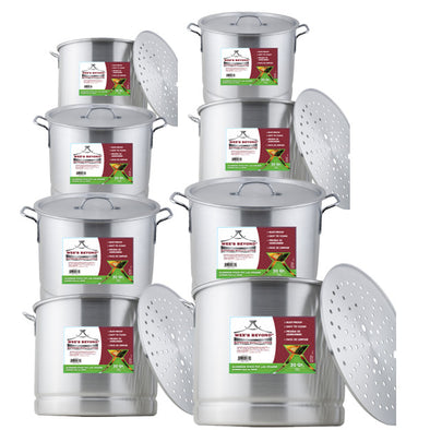 #6676 Aluminum Steamer Stock Pot Set of 8 (case pack 1 set)