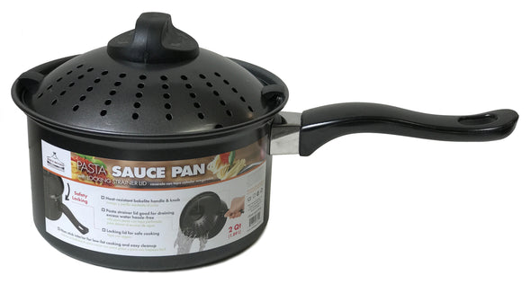 #6822-PP18 Non-Stick Pasta Sauce Pan with Lock Lid 3 Qt (case pack 6 pcs)