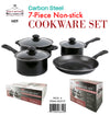 #6829-ST Carbon Steel Non-Stick 7-pc Cookware Set (case pack 4 set)