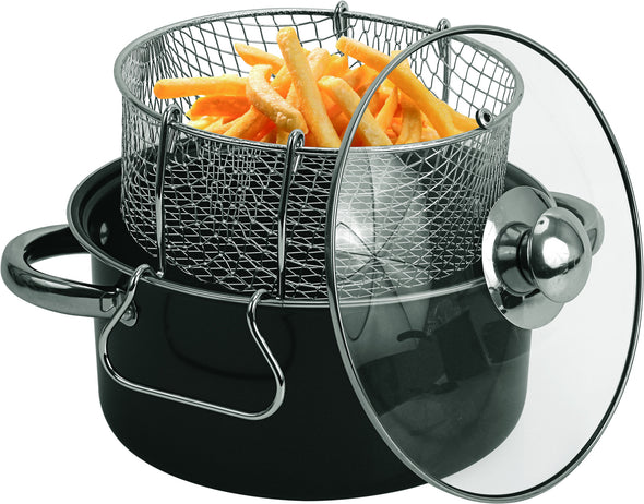 #6833-05 Carbon Steel Non-Stick Deep Fryer set 4.5Qt (case pack 4 pcs)