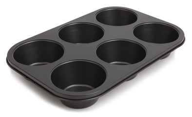 #6841-C Large Non-stick Muffin/Cupcake Pan 6-cup (case pack 24 pcs)
