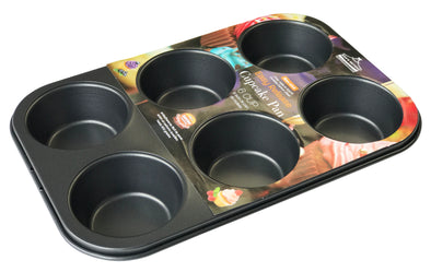 #6843-C Non-stick Cupcake Pan 6-cup (case pack 24 pcs)
