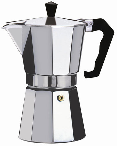 #7526-06 Brew-Fresh Aluminum Espresso Maker Medium 6-cup (case pack 12 pcs)
