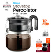#7548 Stove Top Percolator 8 Cups (case pack 6 pcs)