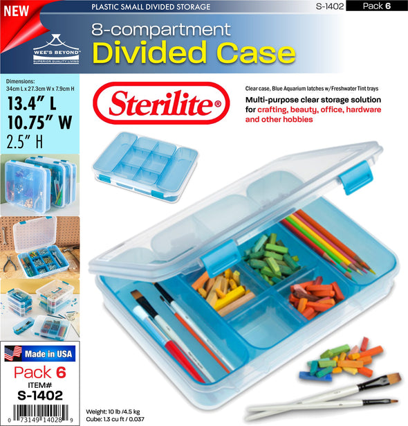 #S-1402 Sterilite Plastic Divided Case (case pack 6 pcs)