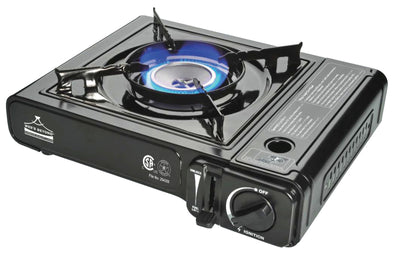 #7800-KK Portable Burner Gas Stove - Black (case pack 6 pcs)