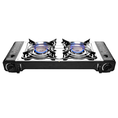 #7801-DD Portable Double Burner Gas Stove (case pack 2 pcs)