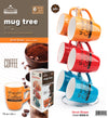 #8008-B Mug Tree Set- 6 Mugs with Stand 13oz Drum Shape (case pack 6 pcs)
