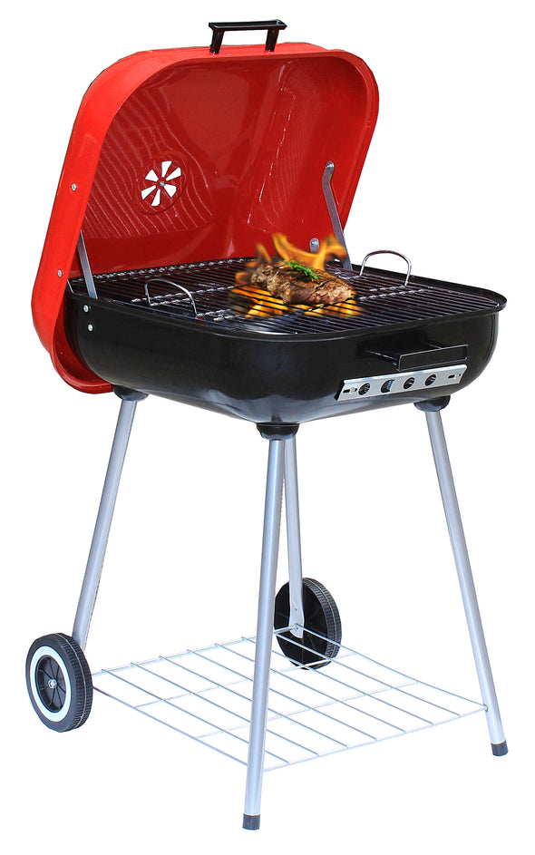 "#9913-22 Wee's Beyond BBQ Charcoal Grill 22"" Square (case pack 1 pc)"
