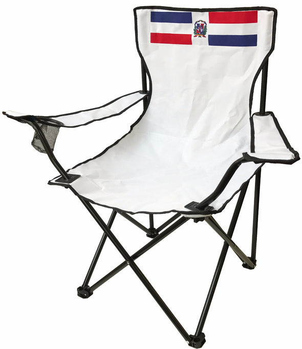 #9994-DM(9990) Wee's Beyond Large Camping Chair - Dominican Flag (case pack 6 pcs)