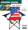 #9994-US Wee's Beyond Large Camping Chair - USA Flag (case pack 6 pcs)