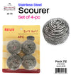 #B178-501471 Stainless Steel Scourer Set of 4 pcs (case pack 24 pcs/ master carton 72 pcs)