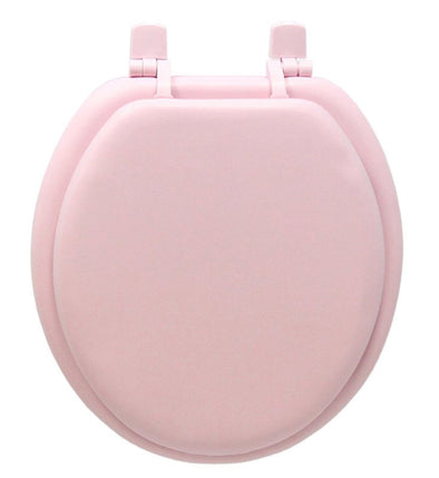 #B260-PNK-KY05X Plain Soft Toilet Seat - Pink (case pack 6 pcs)