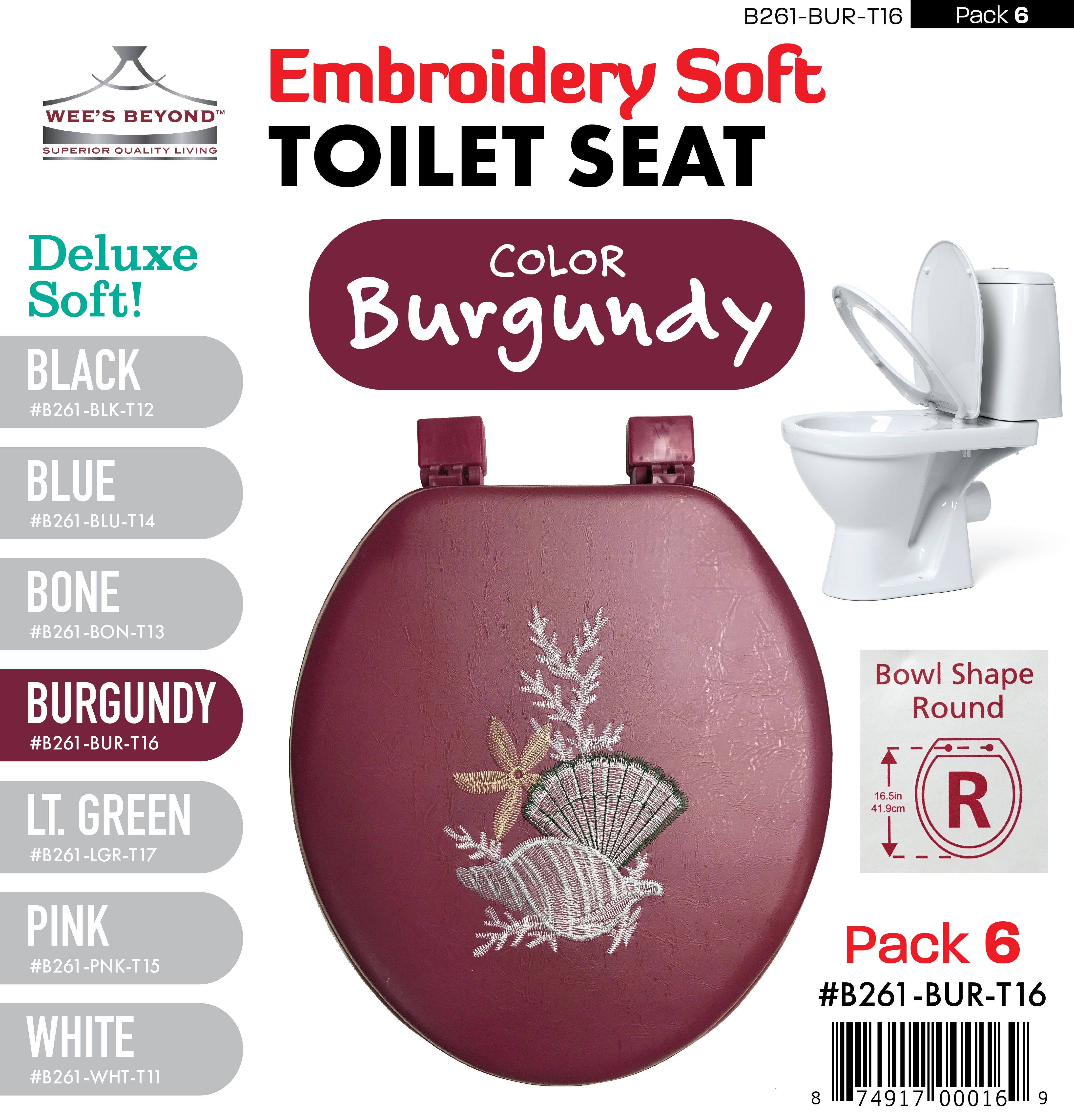Prime B261 Bur T16 Embroidery Soft Toilet Seat Burgundy Case Pack 6 Pcs Theyellowbook Wood Chair Design Ideas Theyellowbookinfo