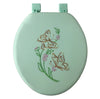 #B261-LGR-T16 Embroidery Soft Toilet Seat - Light Green (case pack 6 pcs)