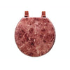 #B264-MBU-M87 Marbleized Wood Toilet Seat - Burgundy (case pack 6 pcs)