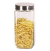 #B952-014-1 Square Glass Jar 2200 ml/ 75 oz (case pack 12 pcs)