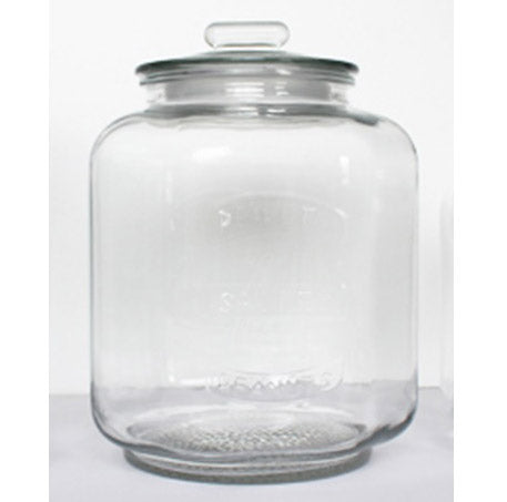 #B957-HM050-3 Glass Cookie Jar w/Airtight Lid 0.87 Gallon (case pack 6 pcs)